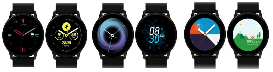 Leak Shows Samsung's Galaxy Watch Active Features New UI, Watch Faces