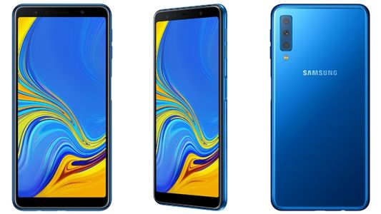Samsung's first phone with a triple-lens camera is the Galaxy A7 2018