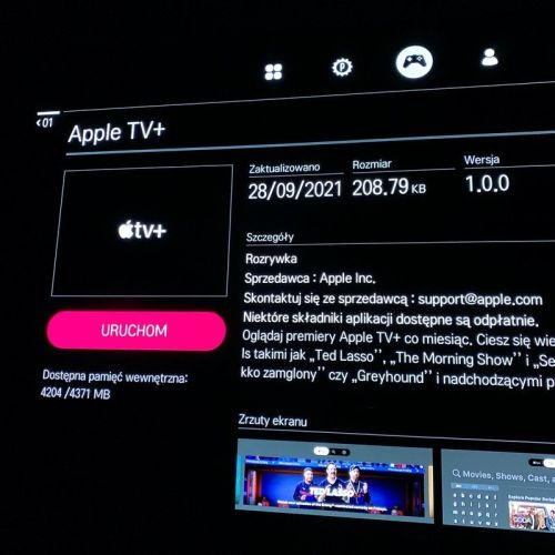 2016/17 LG TV owners can now use a new Apple TV+ app