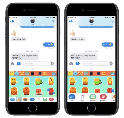 How to Use the Redesigned Messages App Drawer in iOS 11