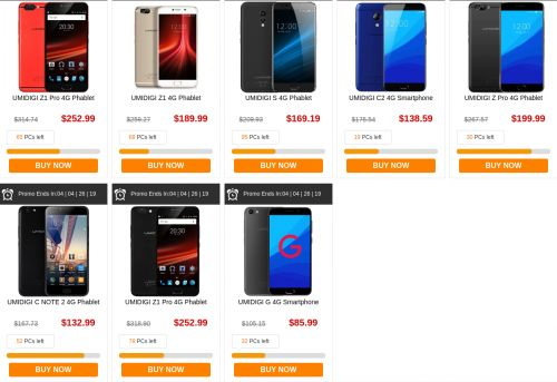 Six UMIDIGI-Branded Handsets Are Now Discounted At GearBest