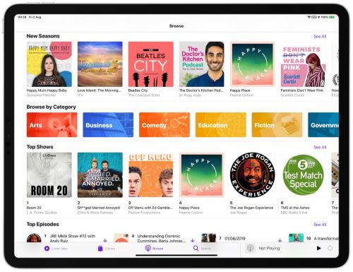 Apple Adds New Content Categories to its Podcasts App