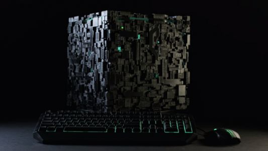 Star Trek fans might be unable to resist this PC that looks like a Borg cube