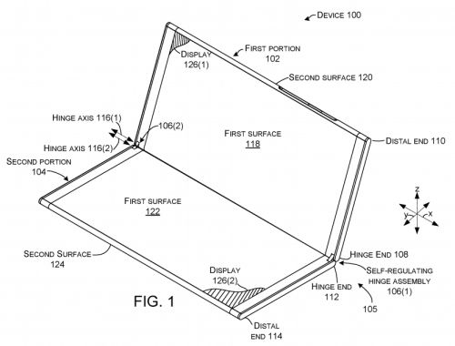 Patent pictures show Microsoft is still trying to build a dual screen device