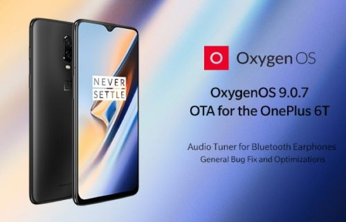 OnePlus 6T gets OxygenOS 9.0.7 software update