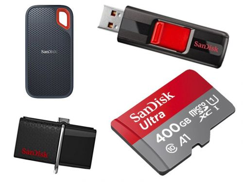 SanDisk's one-day memory sale has 64GB flash drives starting at $10, microSD cards at $16