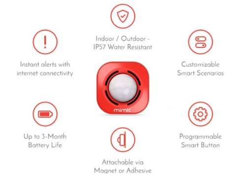Mimic Go smart button protects and monitors almost anything