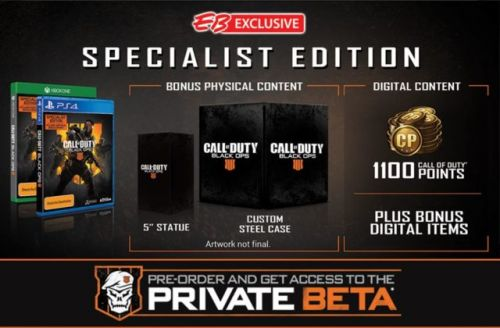 Call of Duty: Black Ops 4 'Specialist Edition' Spotted