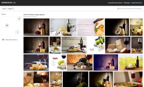Shutterstock's spatially aware visual search tool lets you find photos by composition