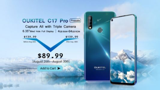 OUKITEL C17 Pro Pre-Orders Starting On August 26 For $89.99