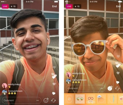 Instagram Face Filters Expand to Live Video