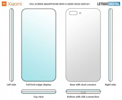 Xiaomi Patents Smartphone With Display Curves On All Sides