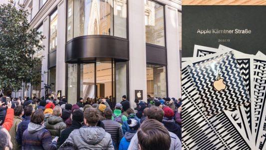 Apple welcomes crowds of customers celebrating grand opening of first retail store in Austria