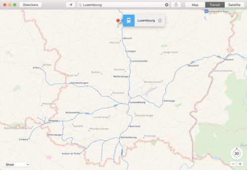 Apple Maps Transit Directions Expand to Luxembourg, New Cities in the US, and Canada's VIA Rail