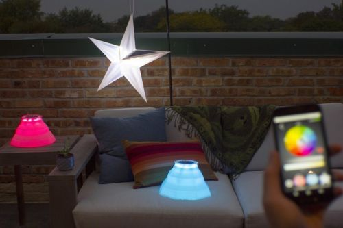 Revitalize Any Outdoor Area With Colorful Solar Lights Controlled By Your iPhone