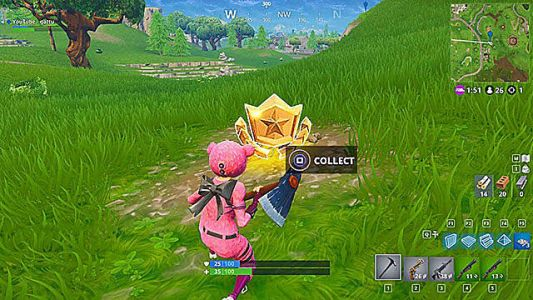 Fortnite Battle Star Guide: Search Between a Bear, Crater, and a Refrigerator Shipment