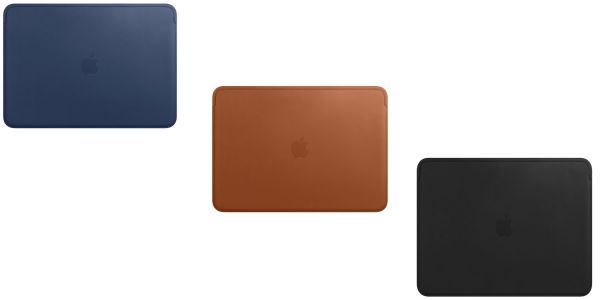 Alongside new models, Apple launches leather sleeves for 13- and 15-inch MacBook Pro