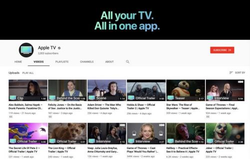 Apple Launches New 'Apple TV' YouTube Channel