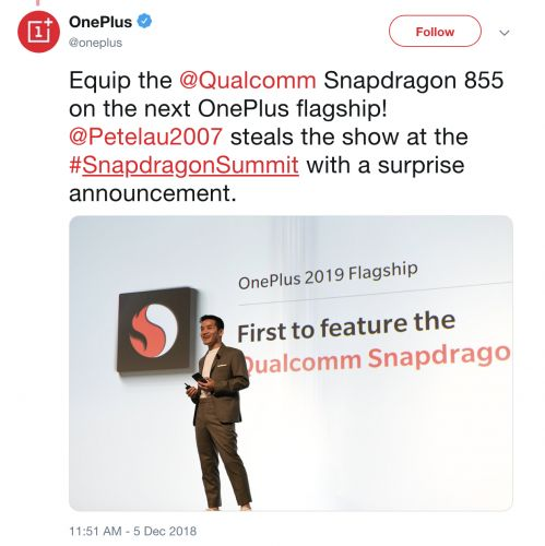 OnePlus misspoke, won't have 'the first' Snapdragon 855 smartphone
