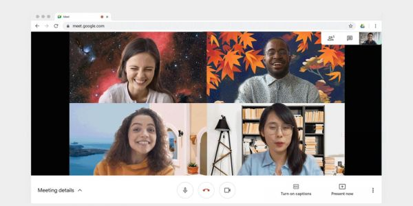 Google Meet starts rolling out custom background images on the web
