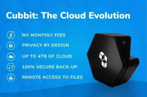 Cubbit personal cloud storage with no monthly fees