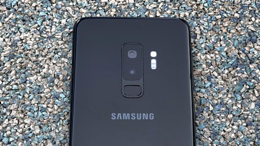 Samsung Galaxy S10 Plus promotional banner shows off the phone