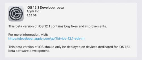 Apple releases first iOS 12.1, tvOS 12.1, and watchOS 5.1 betas