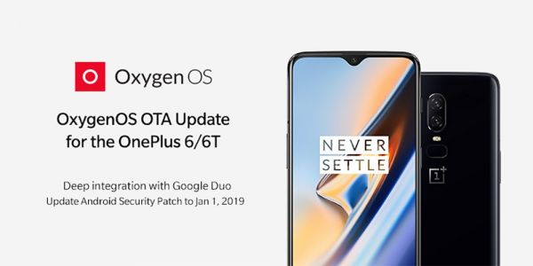 OxygenOS 9.0.12/9.0.4 OTA rolling out for the OnePlus 6T, OnePlus 6 w/ Jan security patch, Google Duo integration