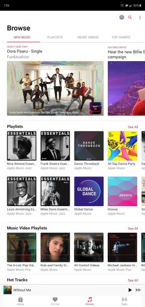 Apple Music on Android Testing Support for Android Tablets