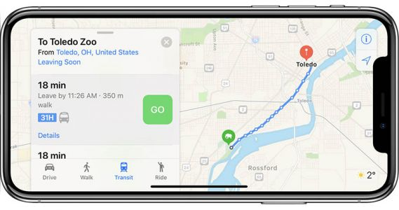 Apple Maps Now Widely Supports Transit Navigation in Ohio, Maryland, Arkansas, and West Virginia