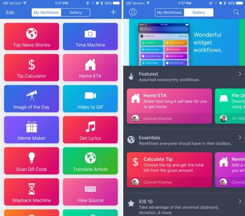Apple Updates Workflow With Support for iPhone X and iOS 11