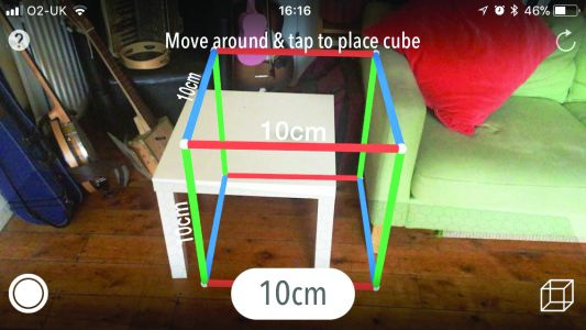 Measure anything with augmented reality and your iPhone