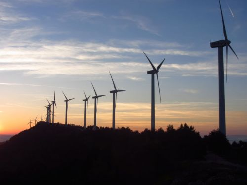 Wind power helps limit global warming but causes some local warming