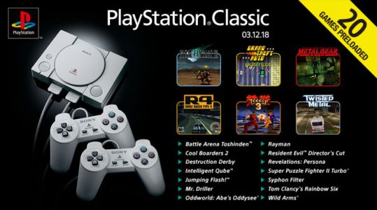 PlayStation Classic's full game list announced, and it might annoy you