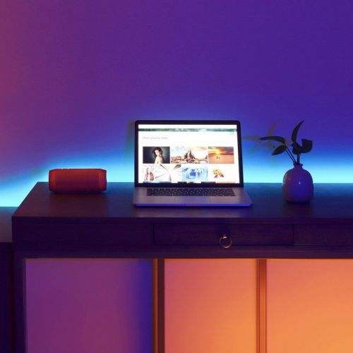 Minger's $17 LED light strip changes colors to fit the music