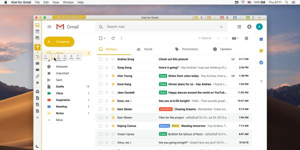 Kiwi for Gmail launches new Focused Filtered inbox