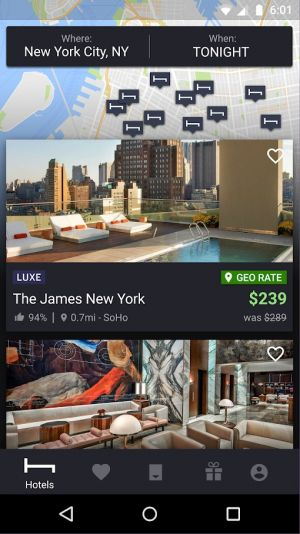 Top 10 Android Apps - Hotels - July 2018