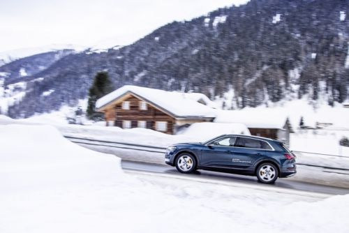 50 Audi E-Tron EVs are being used at the World Economic Forum in Davos
