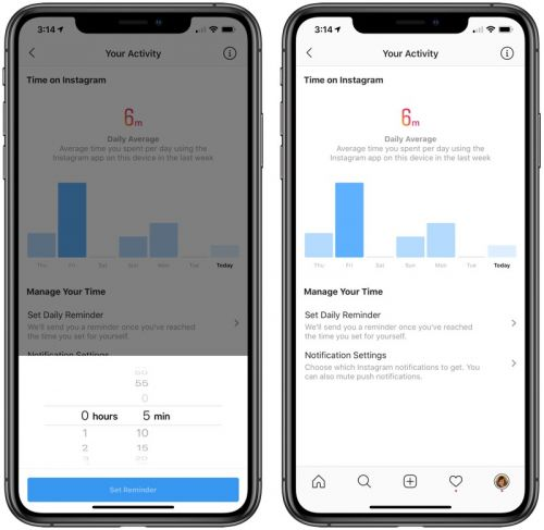 Instagram Rolling Out 'Your Activity' Feature Detailing Amount of Time Spent Using the App