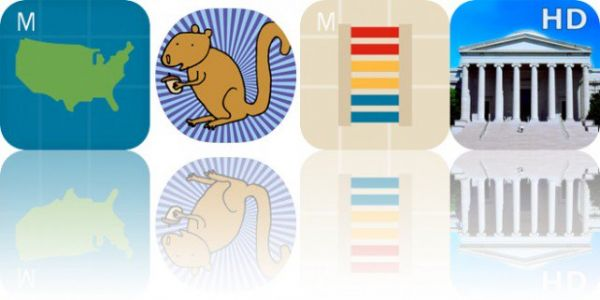 Today's Apps Gone Free: Intro to US, Happy Squirrels Stickers, Intro to Colors and More