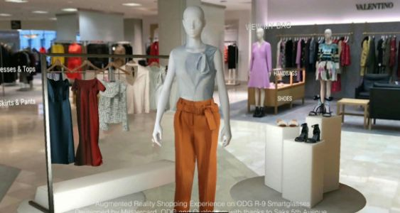 ODG, Mastercard, and Qualcomm show off augmented reality shopping