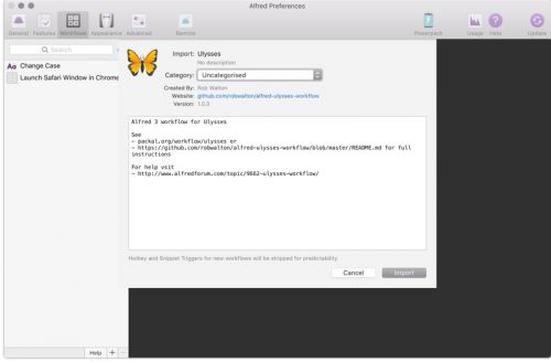 How to use Alfred with Ulysses on macOS