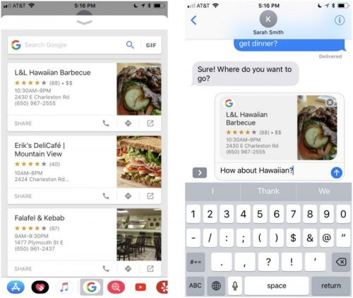Google Search App Now Available for iMessage