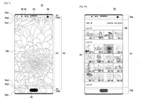 Samsung patent shows future Galaxy device with a notch, another with front facing camera behind the display