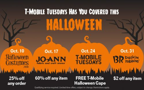 T-Mobile Tuesdays Giving Out Capes & Costumes For Halloween
