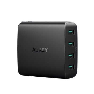 Aukey's 4-port wall charger has dropped to $16 today