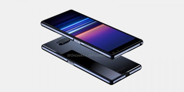 Sony Xperia 20 leaks in new renders w/ familiar 21:9 design, fingerprint sensor in power button