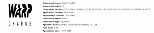 OnePlus Trademarks Warp Charge, It May Replace Dash Charge
