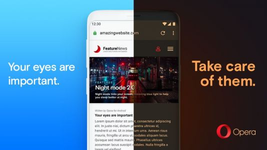 Latest Version Of Opera For Android Gives Any Webpage A Dark Mode
