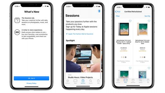 Apple Store app for iOS adds 'Sessions' feature, improved in-store experience, more